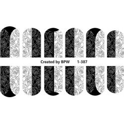 Stickers negros- monogramas