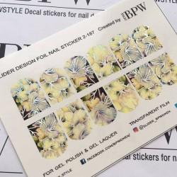 Stickers Flores + Foils 2-187