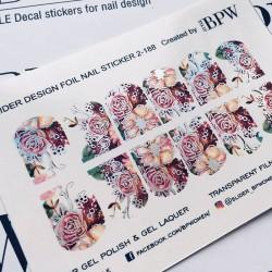 Stickers Flores + Foils 2-188