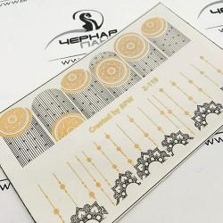630    Foil Stickers dorado...