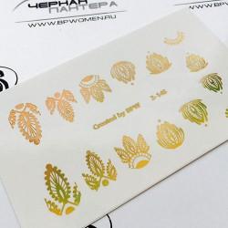629   Foil Stickers dorado...