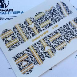 651   Foil Stickers dorado...