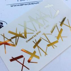 650    Foil Stickers dorado...