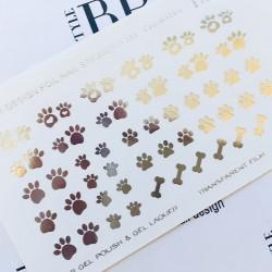 591    Foil Stickers dorado...