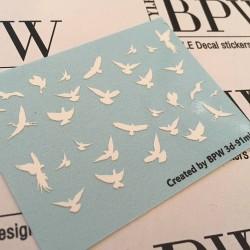Stickers 3d-pájaros