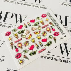 043     3d-168 sticker Pop Art