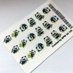 109  Sticker Oso Panda  3d-156