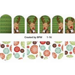 Stickers Navideños 1-16