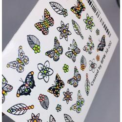 3d stickers con cristales...