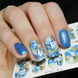 257   Flores azules 1-860
