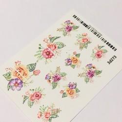 Sticker 3d flores 3d273