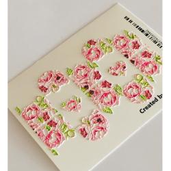 075    Sticker 3d flores 3d278