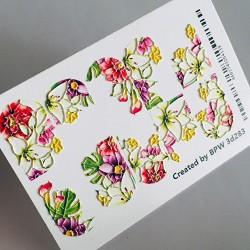 074    Sticker 3d flores 3d283