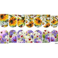 Sticker de color, flores...
