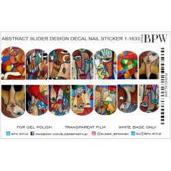 Sticker retrato abstracto...