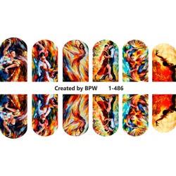 438 Sticker flamenco 1-486