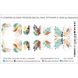 Sticker hojas  5-1642