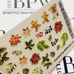 Sticker Navidad 3d172