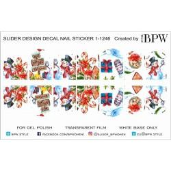394  Sticker Navideño 1-1246