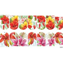 420 Sticker flores 3591