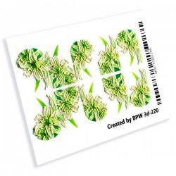 449 Sticker flores 3d220