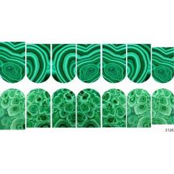 463 Sticker piedra verde 3126