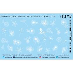 583 Sticker flores blancas...