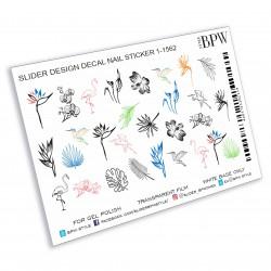 1063   Flores acuarela  1-1562
