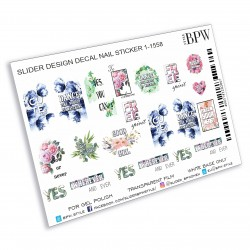 1079  Sticker flores  1-1558