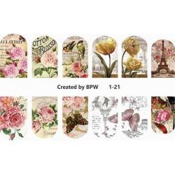 Stickers de uñas Vintage 1-21