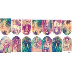 Stickers de uñas Vintage 3341