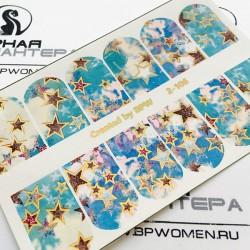 593    Foil Stickers dorado...