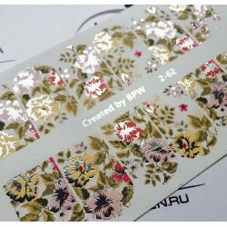 Stickers Flores+Foil 2-62...