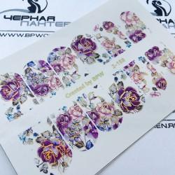 613   Stickers Flores+Foil...