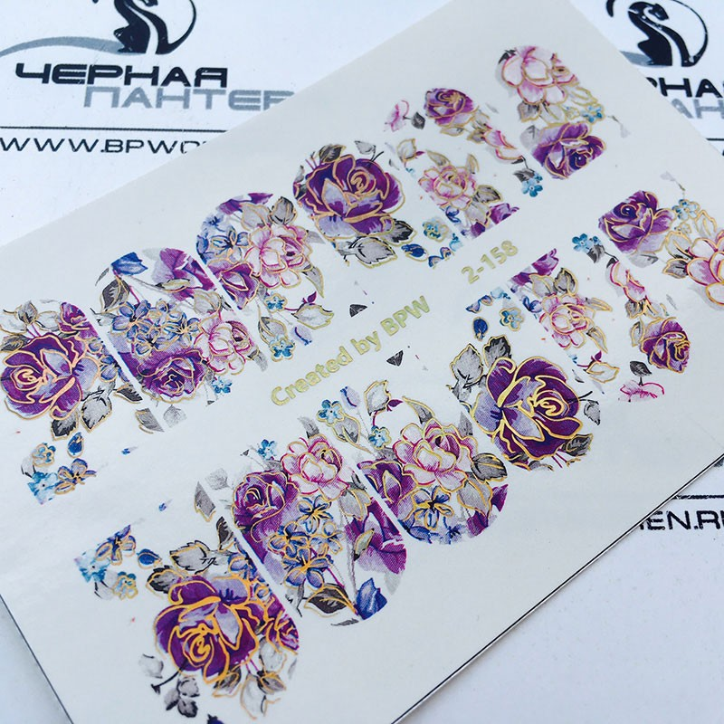 Stickers Floresfoil 2 158 Plateado O Dorado